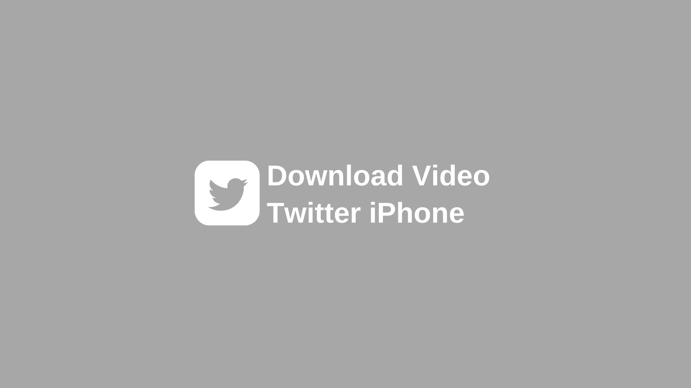 cara download video di twitter iphone