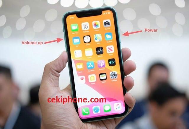 cara screenshot iphone 11 pro max