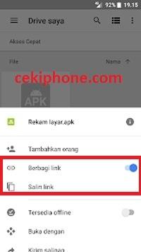 cara share link google drive ke whatsapp