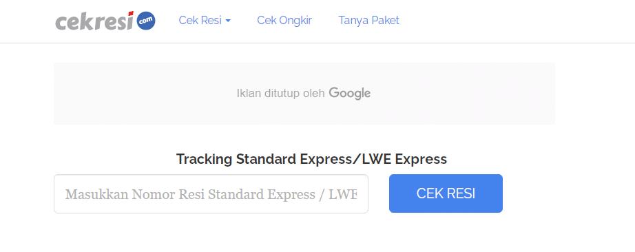cek resi standard express korea