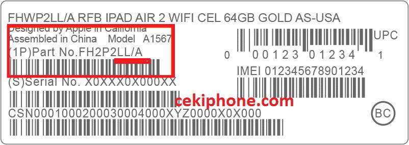kode iphone asli