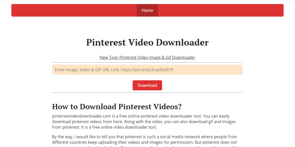 cara download video di pinterest iPhone