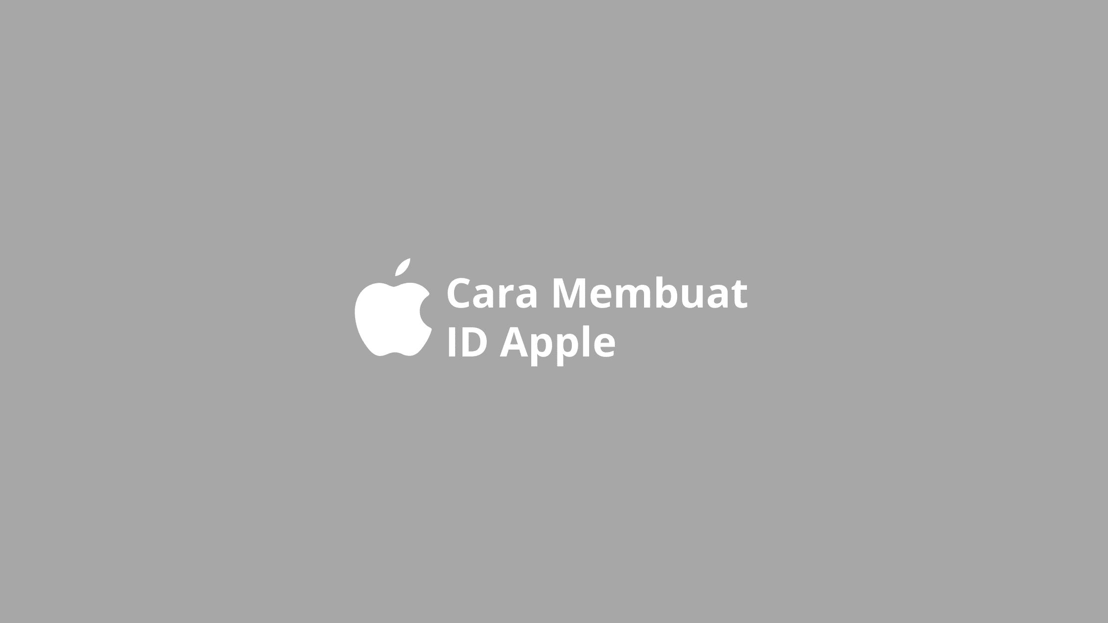 cara membuat id apple