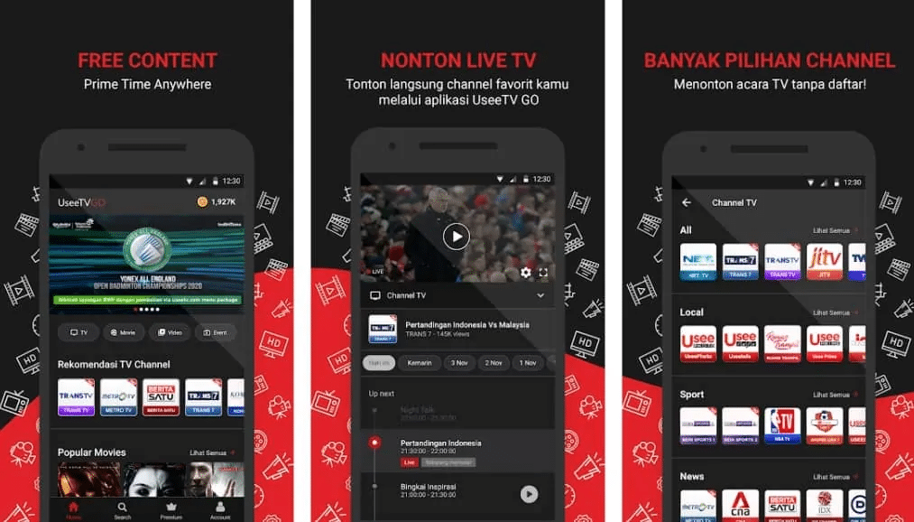 cara nonton live streaming bola indonesia