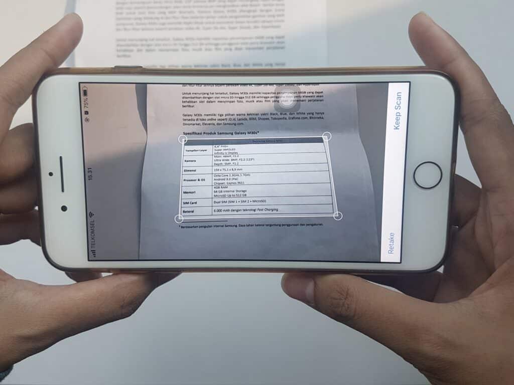 cara scan foto di iphone tanpa aplikasi