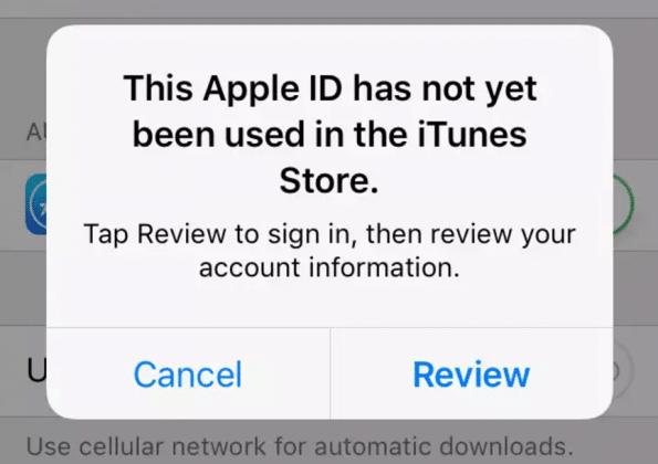 id apple ini belum pernah digunakan di itunes store sebelumnya