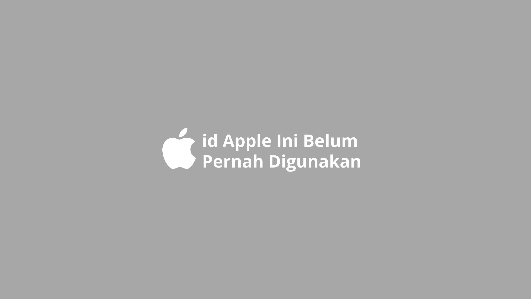 id apple ini belum pernah digunakan di itunes store