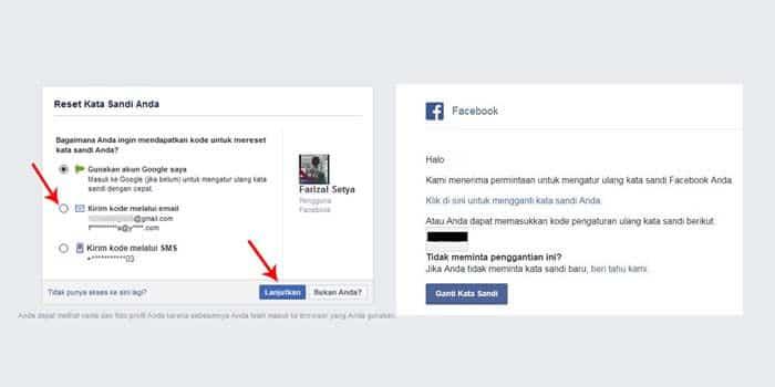 cara membuka facebook lupa kata sandi nomor hp tidak aktif lewat hp