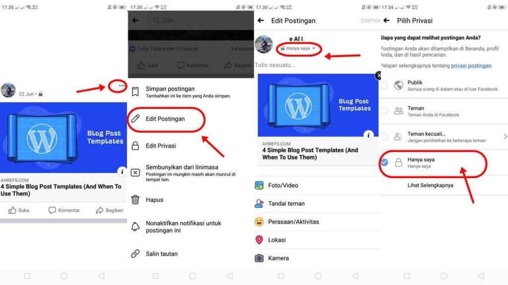 cara mengunci profil facebook agar tidak bisa dibuka orang lain